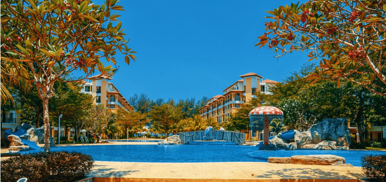 Desaru resort with swimming pool